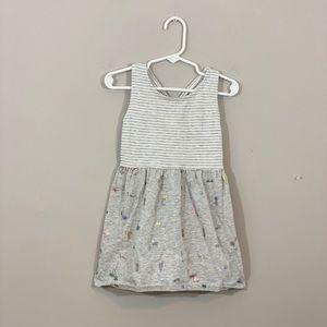Grey Striped Summer Tank Dress